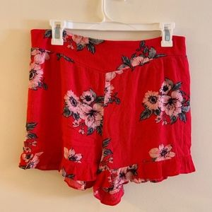 Stretchy Pink Floral Shorts